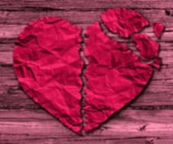broken-heart-breakup-red-crumpled-paper