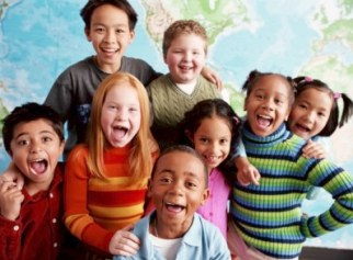 8-10 yr old multiracial kids