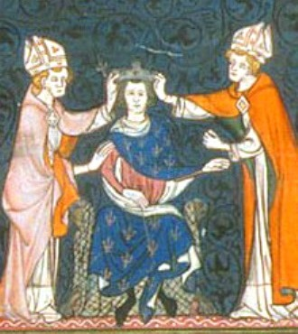 14th-century-depiction-of-louis-the-stammerers-coronation
