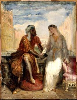 othello-and-desdemona-in-venice-by-theodore-chasseriau-1819-1856