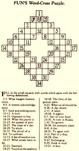 worlds-first-crossword-funs-word-cross-puzzle-by-arthur-wynne-1913