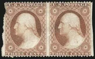 1857-first-us-perforated-postage-stamps