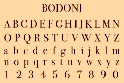 bodoni-typeface