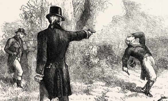 Burr Shoots Hamilton