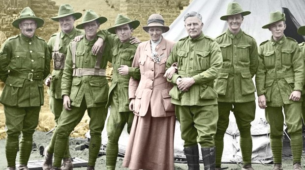 safer-sex-pioneer-ettie-rout-with-members-of-the-australian-graves-detachment