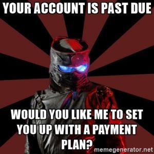 Past due account
