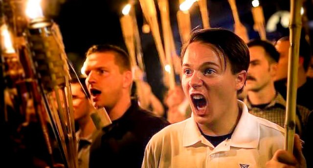 20 y/o college student Peter Cvjetanovic at the neo-Nazi white supremacist rally in Charlottesville, VA 8-12-2017
