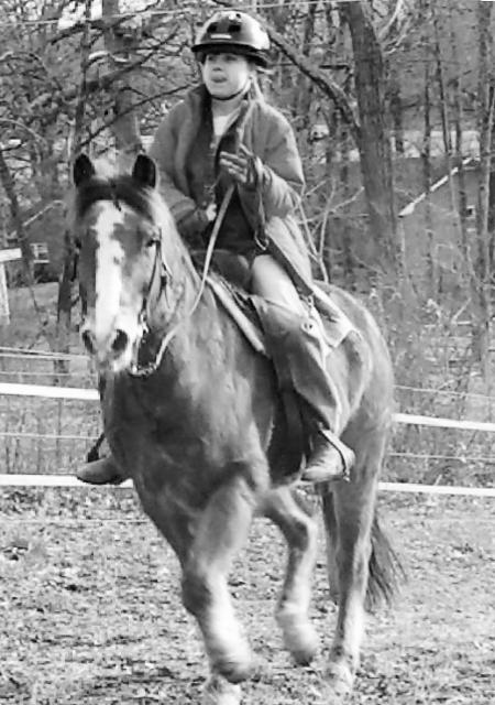 Brandi on horseback