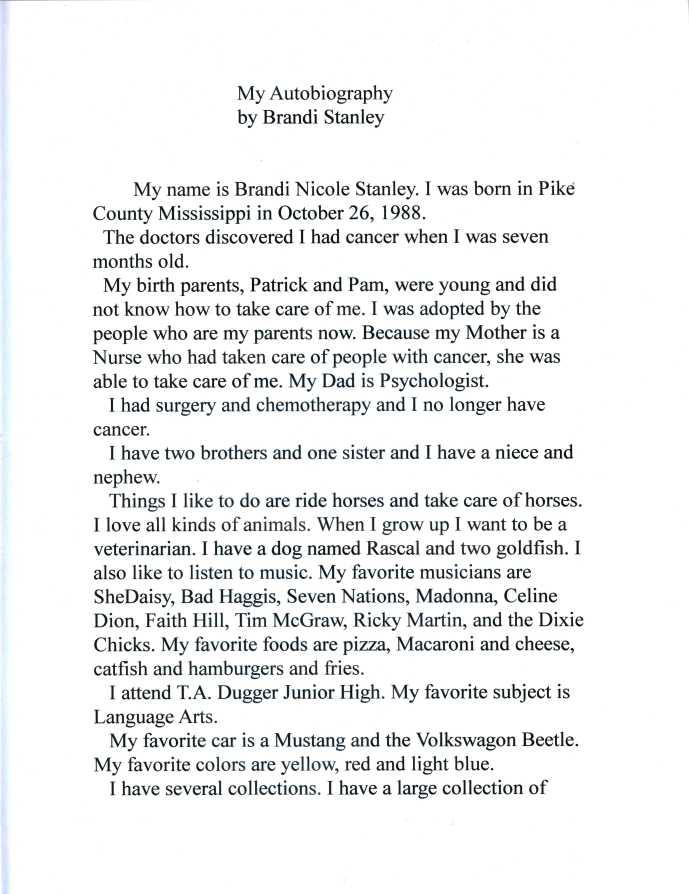 Autobiography pg. 1