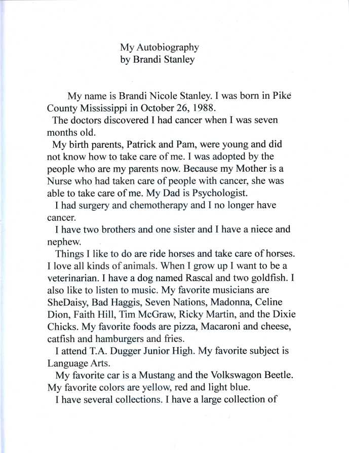 Autobiography pg. 1