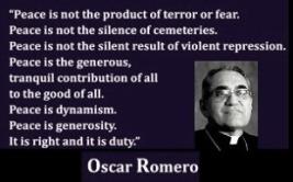 Oscar Romero - peace quote