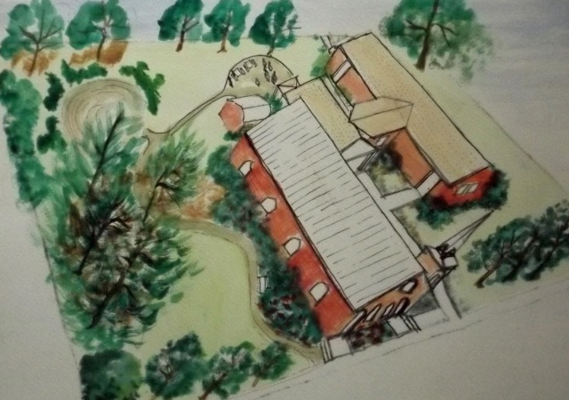 Architect rendering of garden1