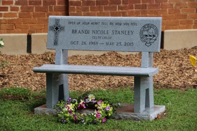 Brandi's memorial bench