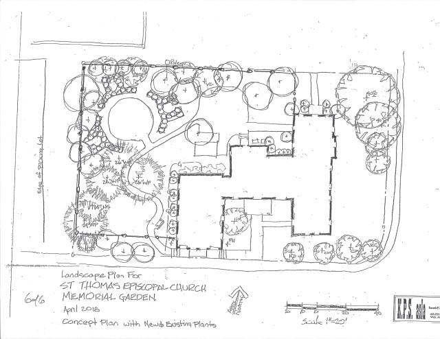 Layout for memorial garden