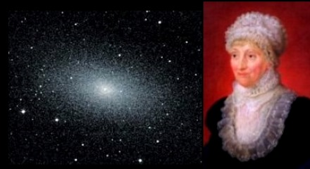 Caroline Herschel and Messier 110 Nebula