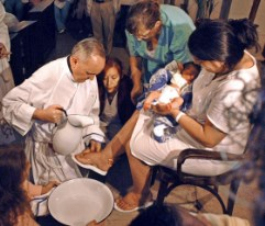 Pope Francis foot-washing