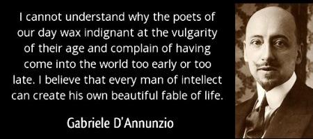 Gabriele D'Annunzio - poets quote