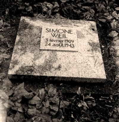 Simone Weil - grave marker